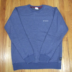 Men's COLUMBIA Blue Crewneck Sweatshirt sz M